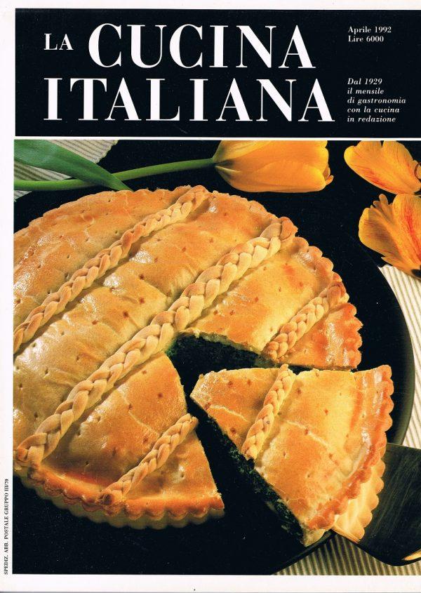 La Cucina Italiana Aprile 1992 Dal 1929 Il Mensile Di